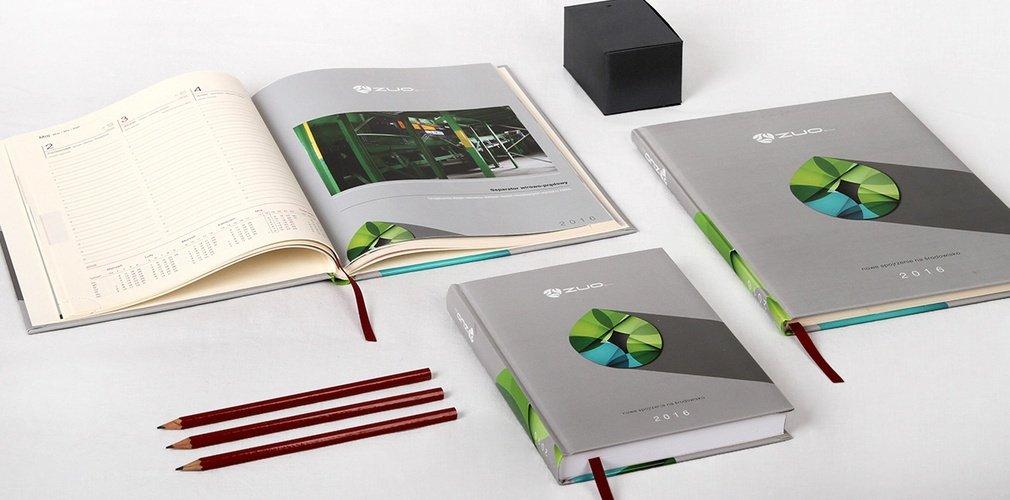 Genialny Kalendarze książkowe na zamówienie 2020, kalendarz z logo firmy PA05